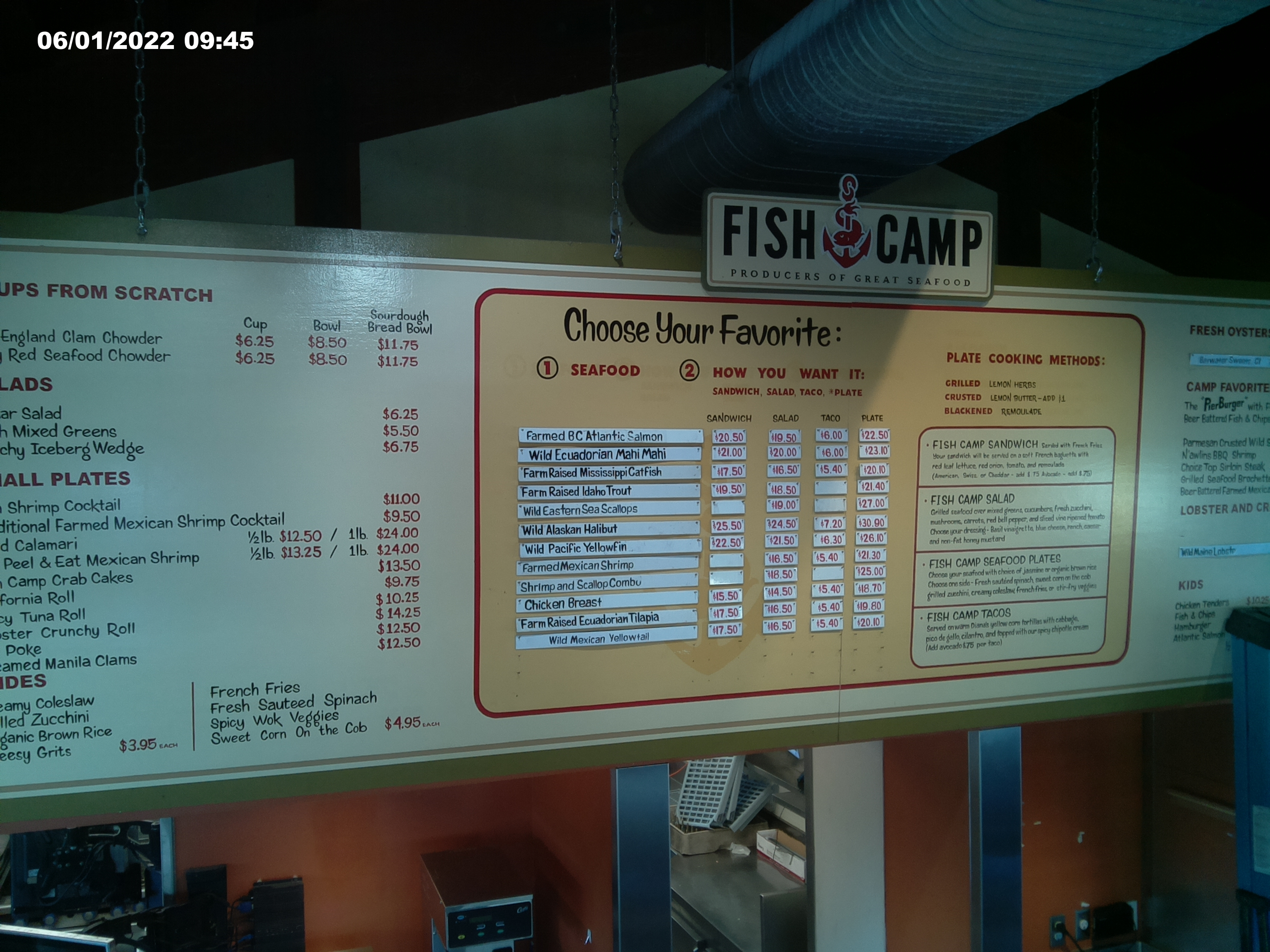 Fishcamp for King s fish house menu
